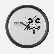 Remember Remember the...8th of No Large Wall Clock