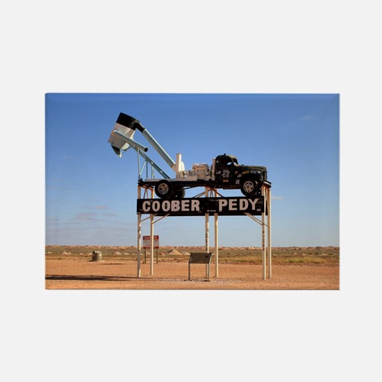 Coober Pedy town sign, Australia Magnets