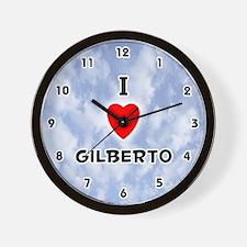 I Love Gilberto (Black) Valentine Wall Clock