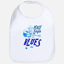 Peace Love Blues Bib