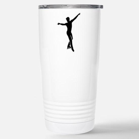 Figure skating man Stainless Steel Travel Mug
