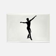 Figure skating man Rectangle Magnet (10 pack)