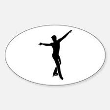 Figure skating man Sticker (Oval)