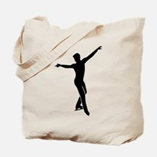 Figure skating man Tote Bag