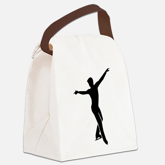 Figure skating man Canvas Lunch Bag