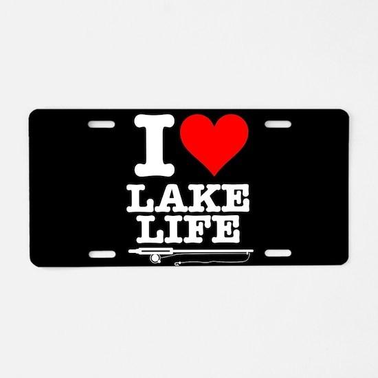 I Heart Lake Life Aluminum License Plate