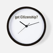 got Citizenship Wall Clock