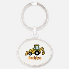 Cute Tractor kid Oval Keychain