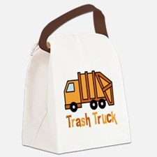Cute Garbage truck Canvas Lunch Bag