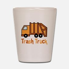 Cute Garbage truck Shot Glass