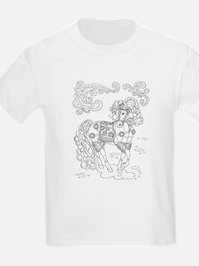 Prancing Paisley Horse Design: T-Shirt