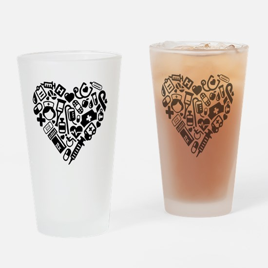 Cute Cardiac nurse Drinking Glass