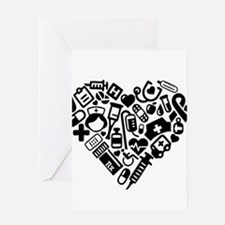 Nurse Heart Greeting Cards