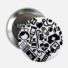 "Nurse Heart 2.25"" Button (100 pack)"