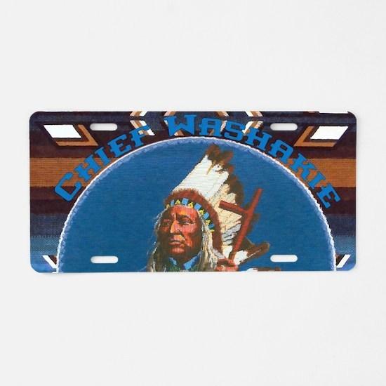 Chief Washakie Shoshone Aluminum License Plate