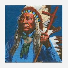 Chief Washakie Shoshone Tile Coaster