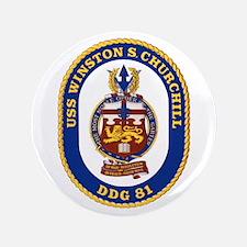 """USS Churchill DDG 81 3.5"""" Button"""