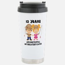 Cute 13th wedding anniversary Travel Mug