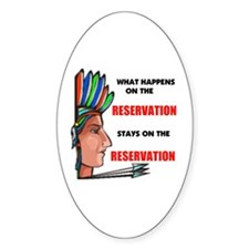INDIAN Oval Bumper Stickers