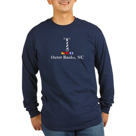 Hatteras Lighthouse Long Sleeve Dark T-Shirt