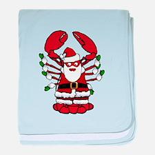 Christmas Santa Lobster baby blanket