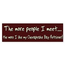 The More People Chessie Bumper Bumper Sticker