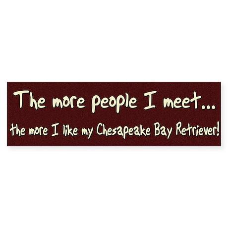 The More People Chessie Bumper Sticker