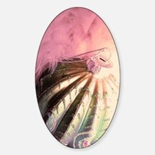 Cool Feather boa Sticker (Oval)