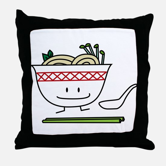 Pho Bowl Throw Pillow