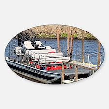 Florida swamp airboat Decal