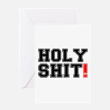 HOLY SHIT! 2 Greeting Cards