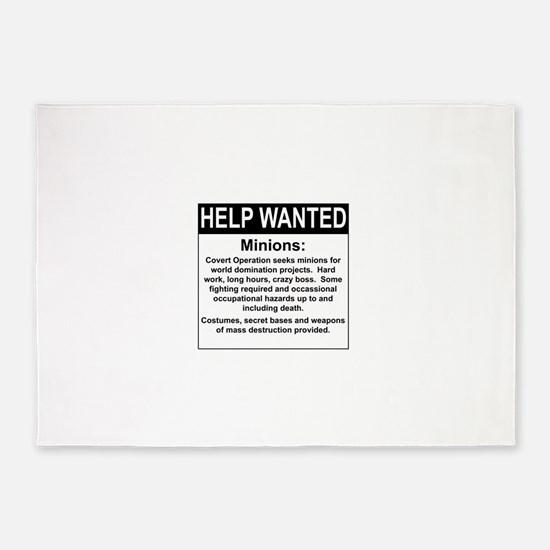 HelpWanted.png 5'x7'Area Rug