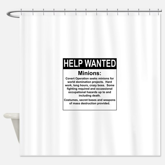 HelpWanted.png Shower Curtain