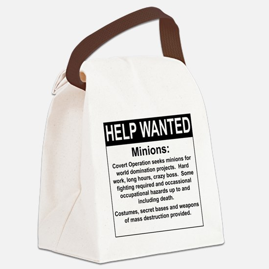 HelpWanted.png Canvas Lunch Bag