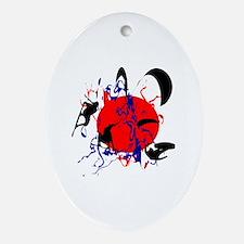 Funny Kiteboard Oval Ornament