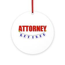 Retired Attorney Ornament (Round)