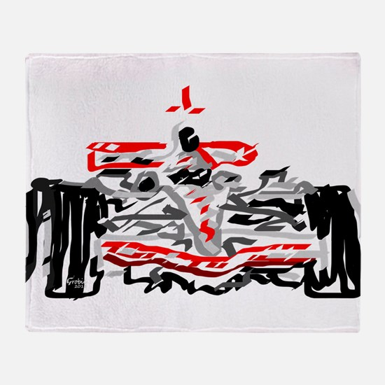 Race car Throw Blanket