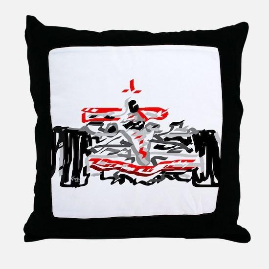 Race car Throw Pillow