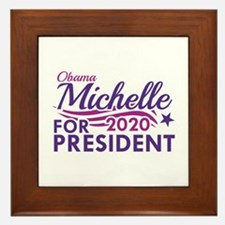 Michelle Obama 2020 Framed Tile