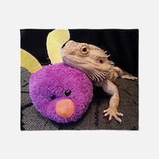 Funny Bearded dragon Throw Blanket