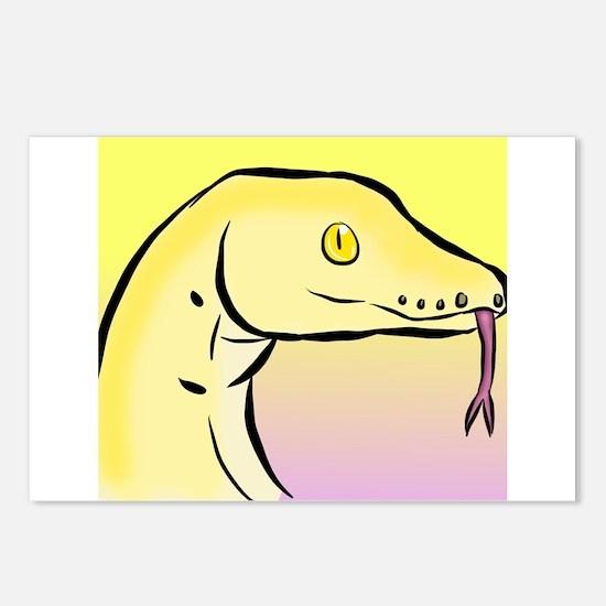 Yellow Boa Snake Snek Postcards (Package of 8)