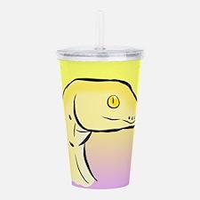 Yellow Boa Snake Snek Acrylic Double-wall Tumbler