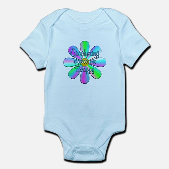 Crocheting Happy Infant Bodysuit