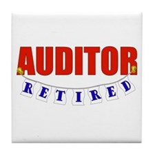 Retired Auditor Tile Coaster