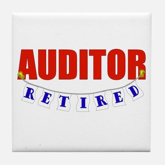 Retired Auditor Tile Coaster