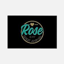 Golden Girls - Rose Spirit Animal Rectangle Magnet