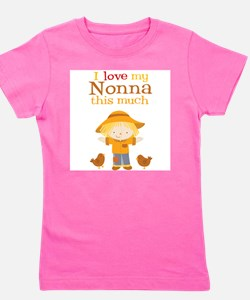 Scarecrow I Love Nonna Kids T-Shirt