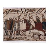 Bayeux tapestry Fleece Blankets