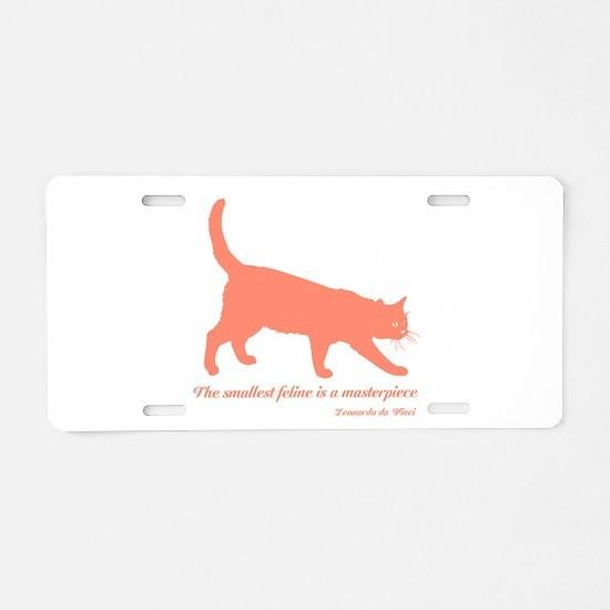 Feline Masterpiece Aluminum License Plate