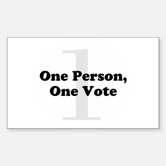 One Person, One Vote Decal